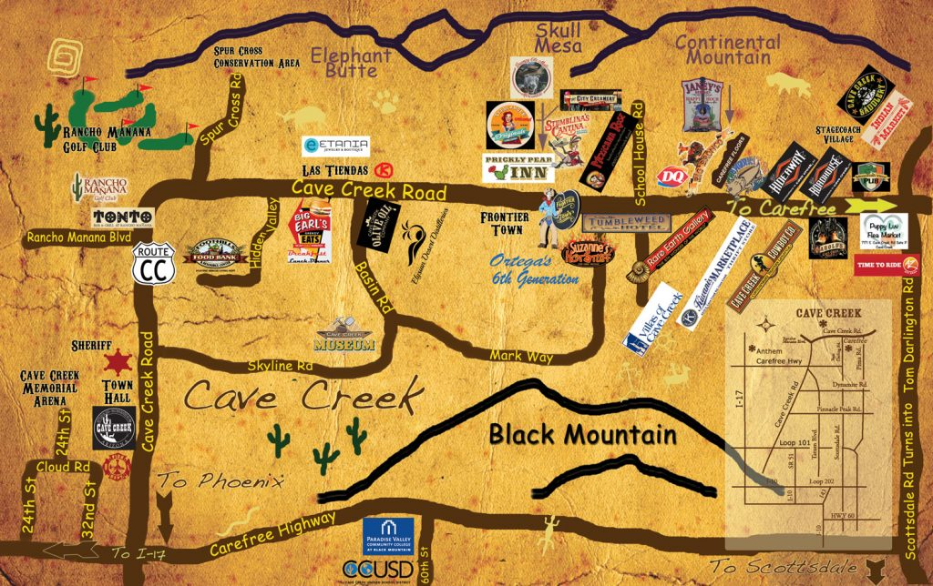 Cave Creek Map
